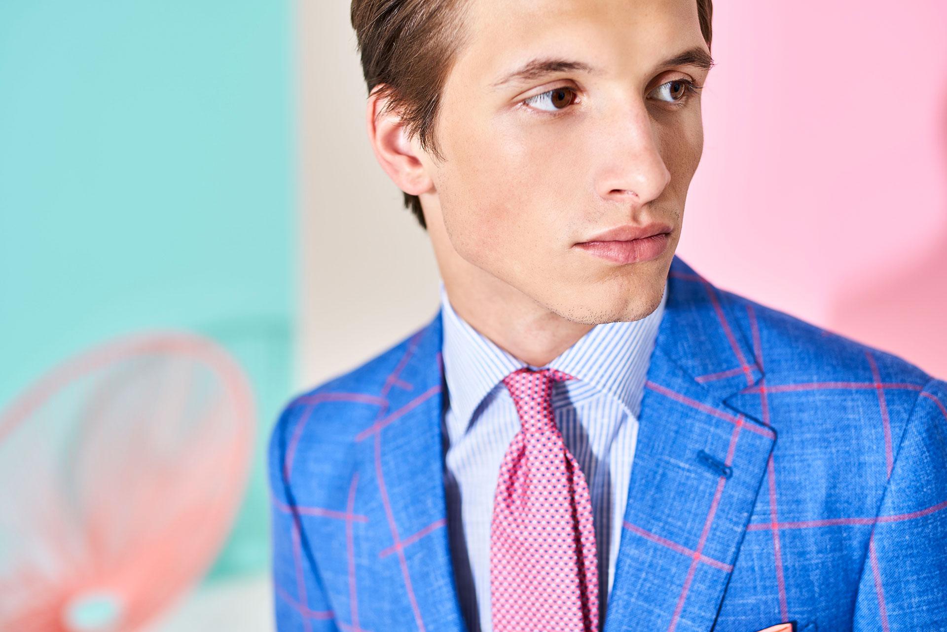 mix and match blue jacket